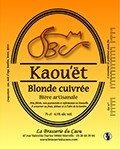 biere Kaou'ët Blonde Cuivrée du caou