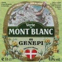 etiquette biere mont blanc verte