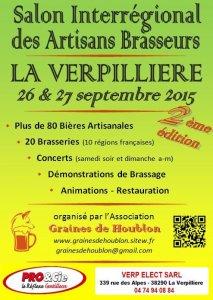 2ème Salon Interrégional des Artisans Brasseurs : 26 et 27 septermbre 2015