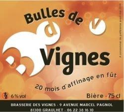 La bulles de vignes brasserie des vignes